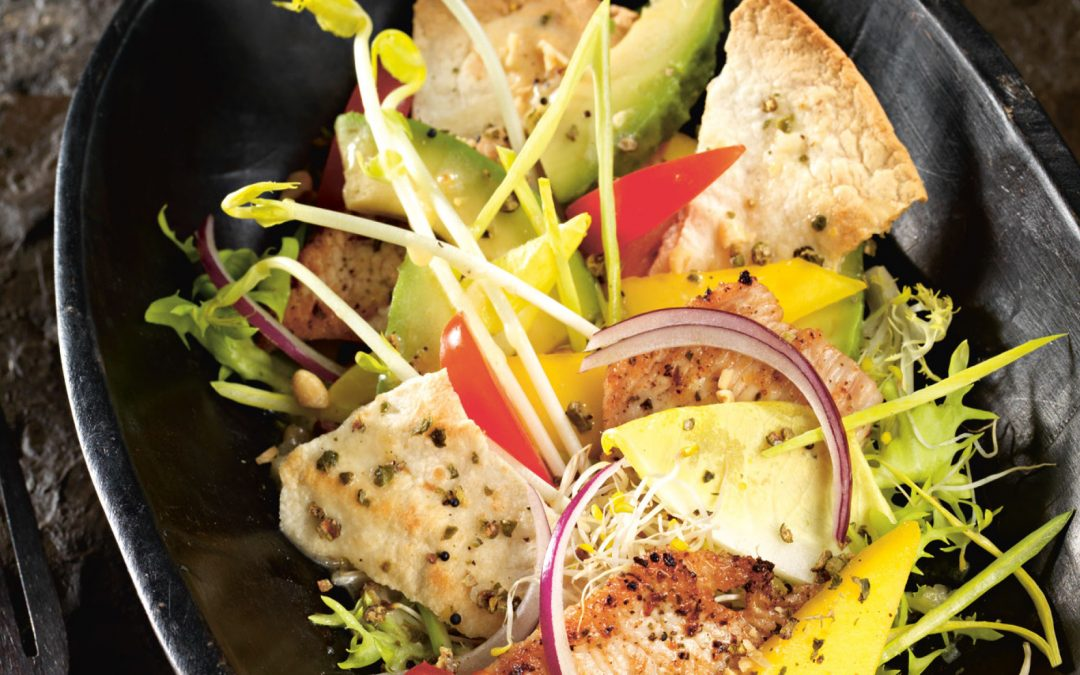 Exotischer Salat von Putensaloppine
