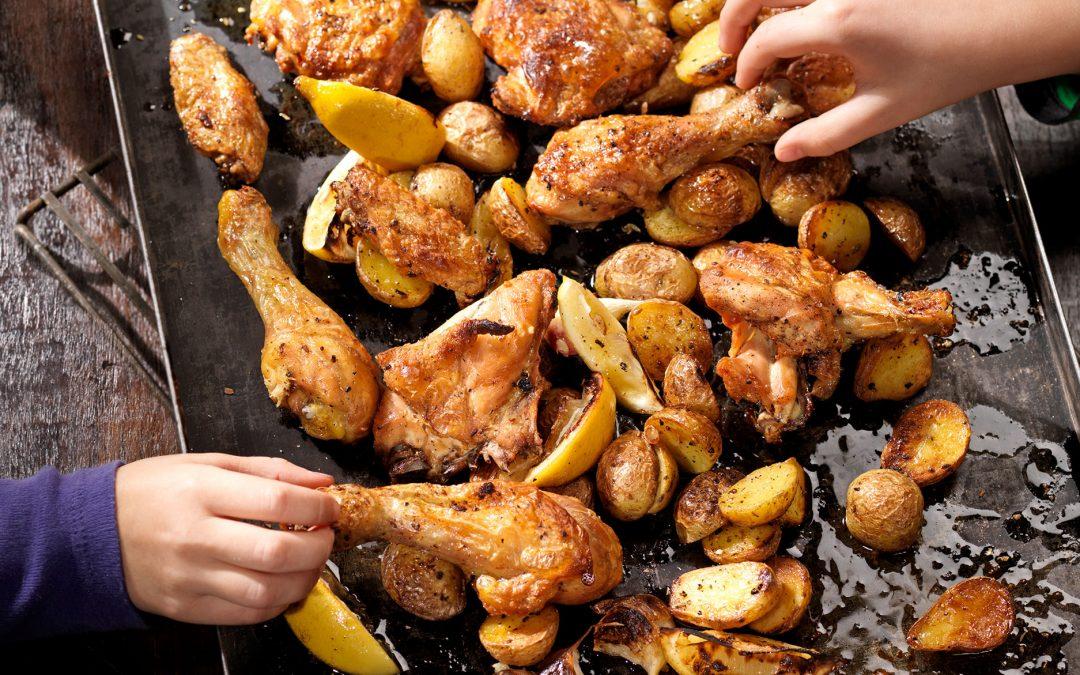 Knuspriges Huhn aus dem Ofen