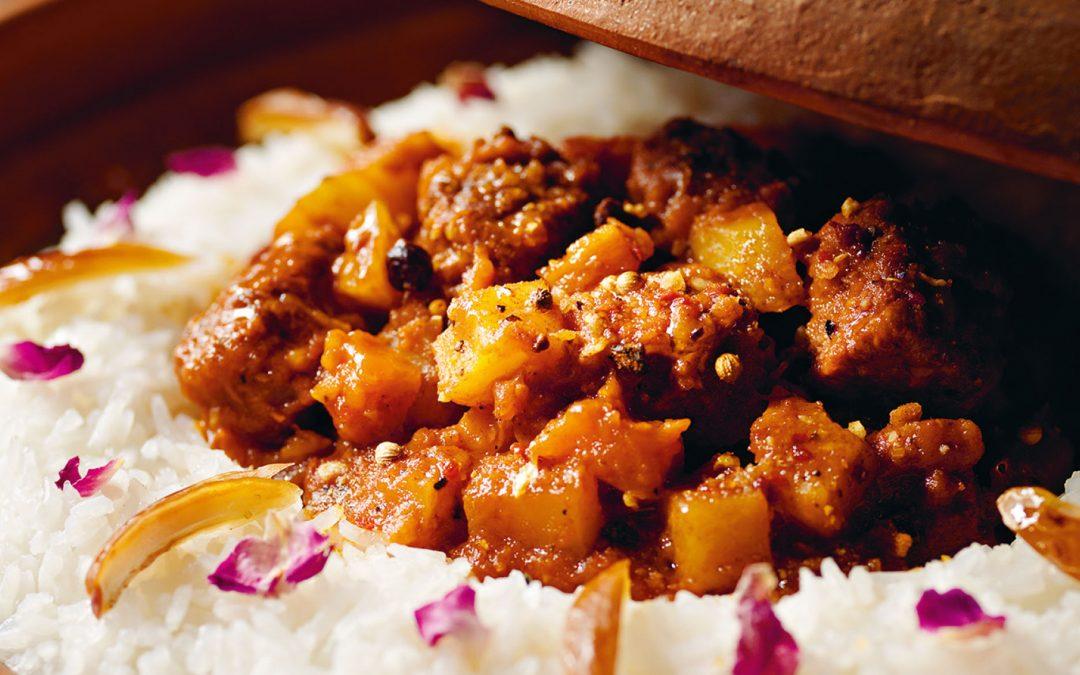 Rindfleisch, Kartoffeln und Gemüse