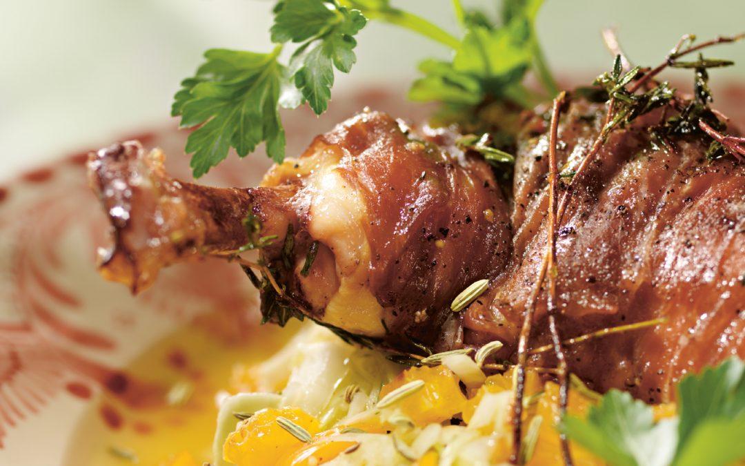 Poulardenbrust an Fenchel-Weißkohl-Salat