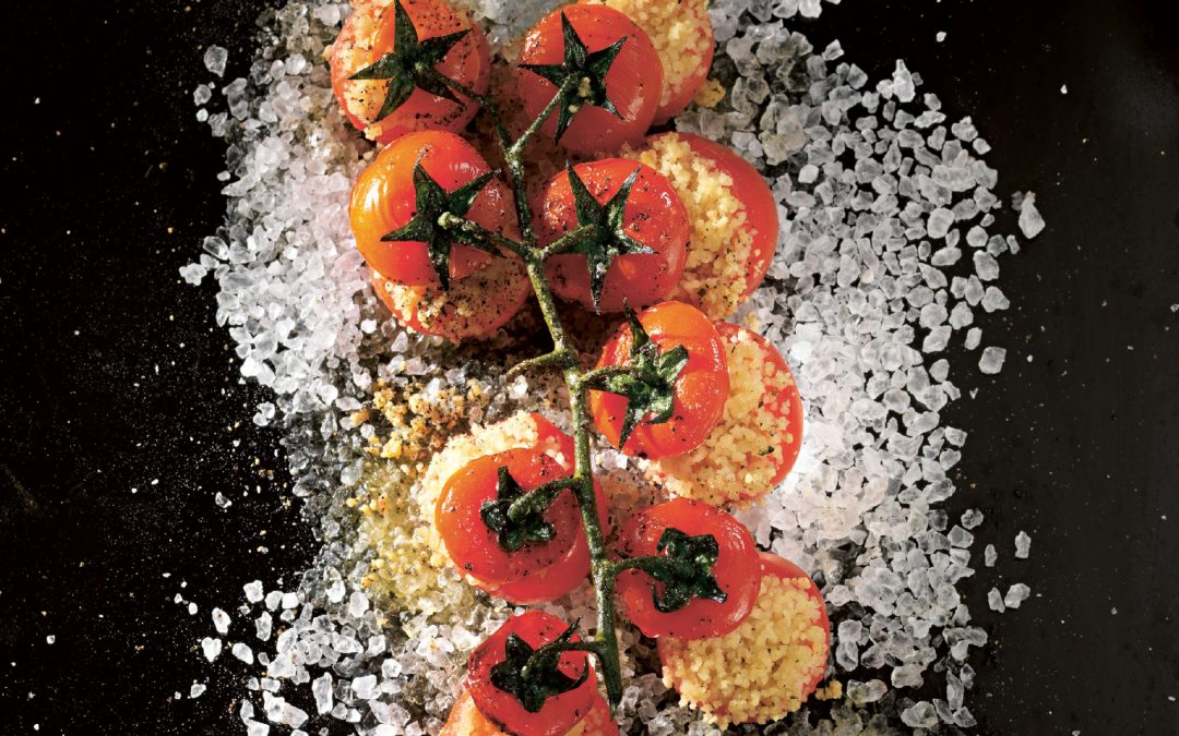 Gebackene Kirschtomaten mit Couscous