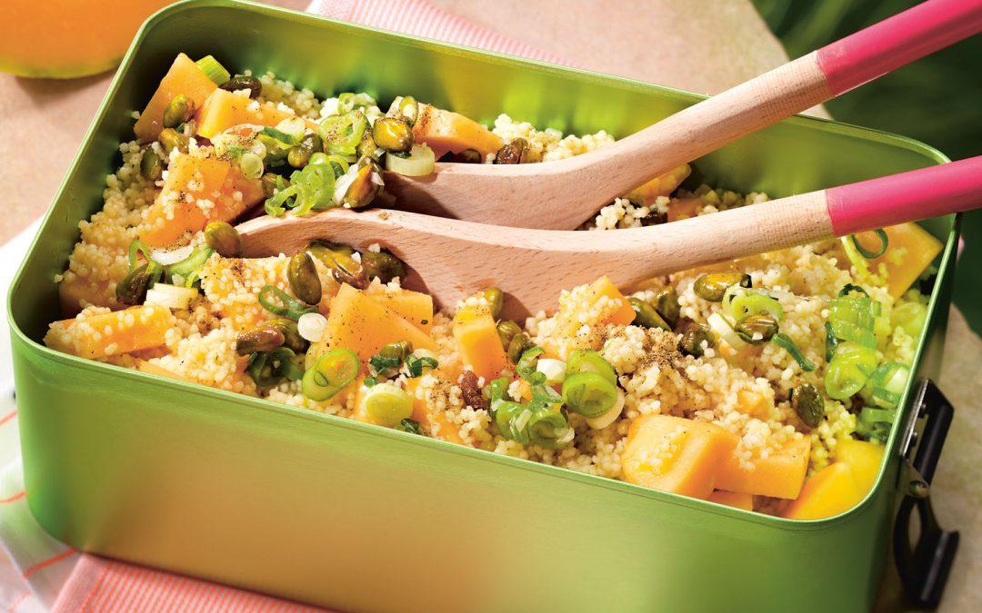 Sizilianischer Couscous-Salat mit Melone