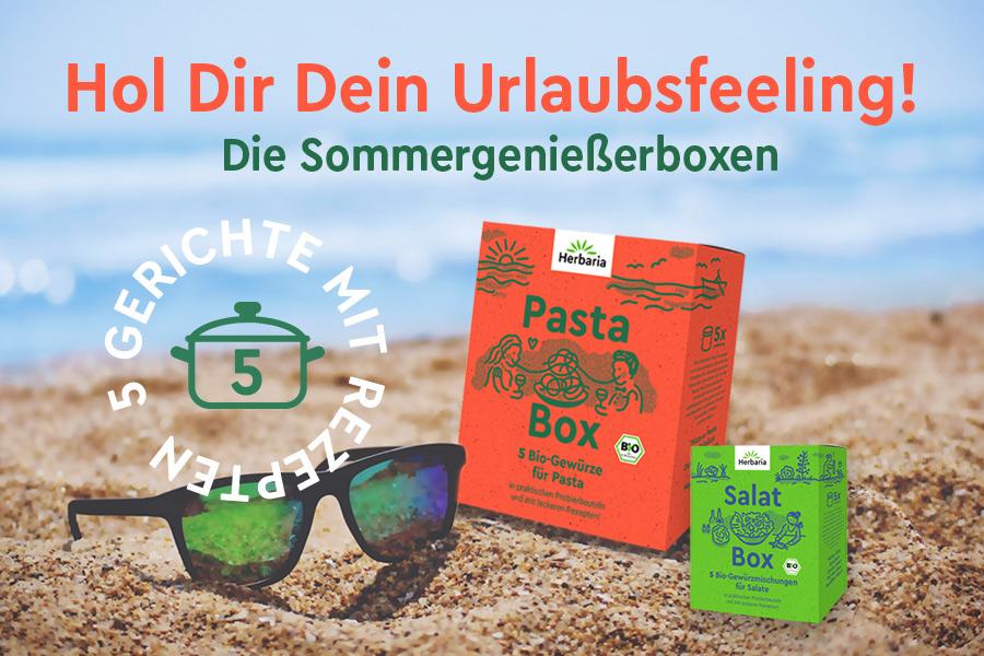 Sommer-Genießerboxen von Herbaria in 100 % Bio-Qualität
